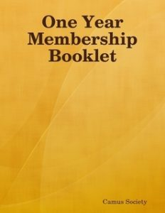 Camus Society Membership